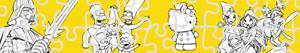 раскраски Пазлы - Персонажи из мультфильма