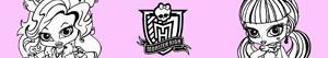 раскраски Monster High Baby