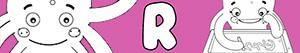 раскраски Имена для девочек с буквой R