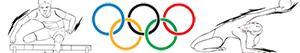 раскраски Олимпийские спорта. Лёгкая атлетика. Гимнастика. Легкоатлетические многоборья